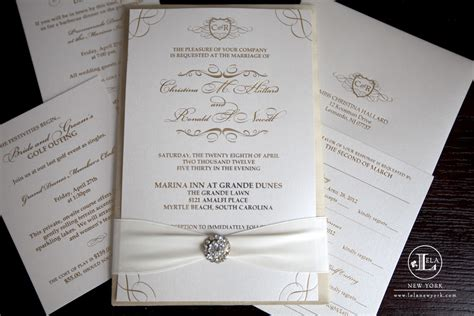 Luxury Wedding Invitations by Ronald New York Luxury Wedding