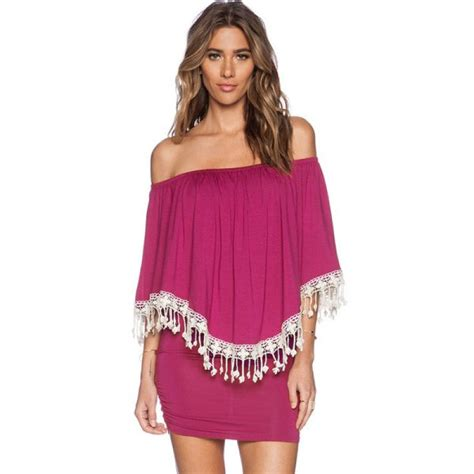 Tassel Dress Ruffle by Buy Tassel The Shoulder Ruffle Bodycon Dress
