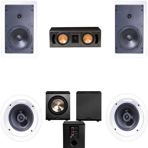klipsch r 1650 w in wall 1 5 1 home theater system rc
