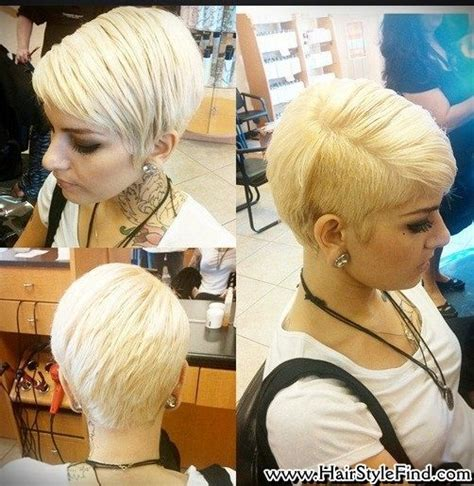 20 shaved hairstyles for women side shave short pixie haircut with one side shaved layered straight short