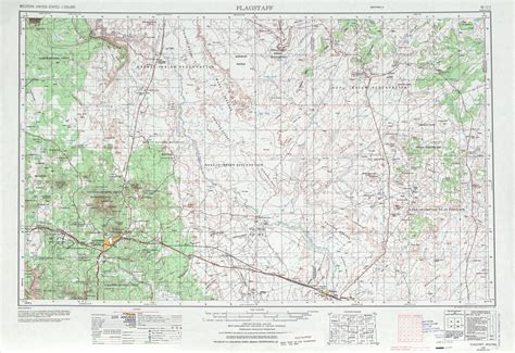 united states topographic map flagstaff topographic map sheet united states 1970 full