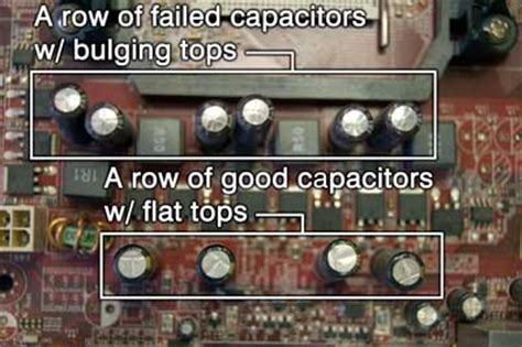 symptoms of a bad capacitor on a motherboard how to check your desktop computer for failed capacitors