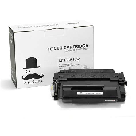 Toner Hp 55a Black compatible hp 55a ce255a black toner cartridge moustache
