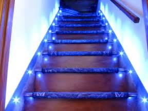 Lights For Stairs by Led Stair Lighting Automatically Turns On When The
