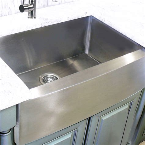 farmhouse sink stainless vs porcelain stainless steel 30 inch farmhouse apron sink ebay