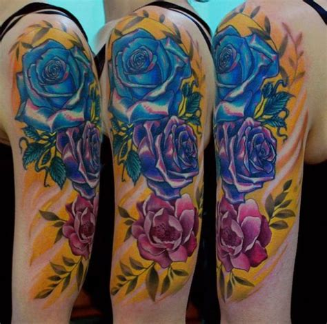 different color rose tattoos 17 best images about colorful tattoos on