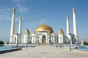 Mosque In Turkmenbashi Ruhy Mosque The Turkmen Mosque