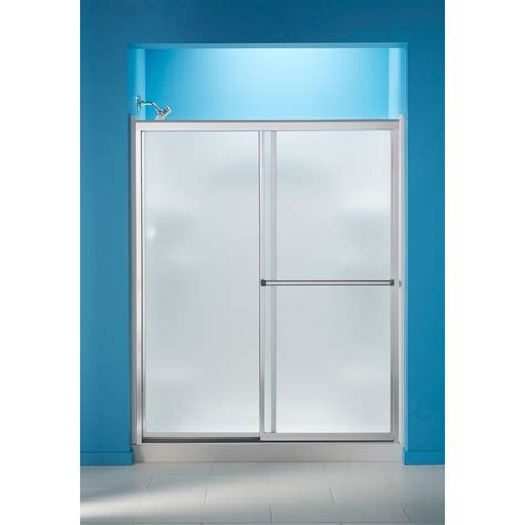 Frosted Glass Sliding Shower Doors Sterling 59 3 8 In X 70 1 4 In Framed Sliding Shower