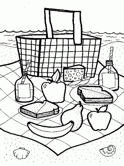 picnic coloring pages preschool picnic basket coloring page fun family crafts