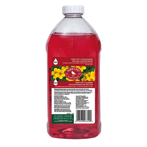 perky pet 64 oz red hummingbird nectar concentrate 255