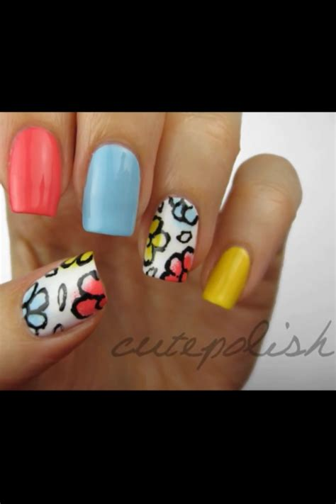 cutepolish doodle flowers cutepolish s floral doodle nails i these because the