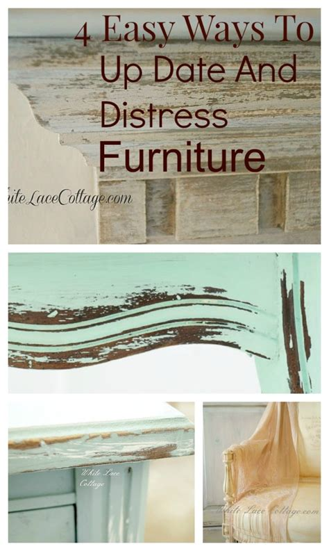 How To Easily Distress Furniture by How To Distress Furniture With Vinegar White Lace Cottage