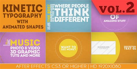 25 amazing after effects kinetic typography templates