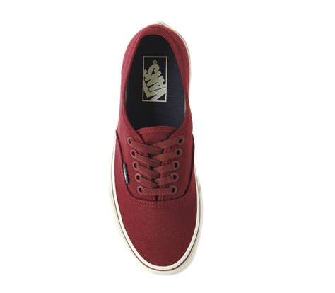 Authentic Maroon vans authentic vintage maroon unisex sports
