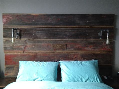 barn board headboard best 25 headboard lights ideas on pinterest rustic wood