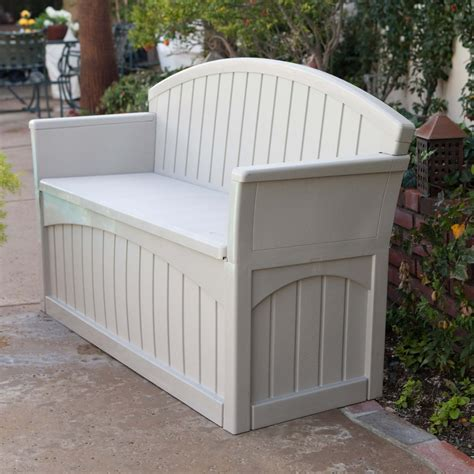 patio bench with storage top 10 types of outdoor deck storage boxes