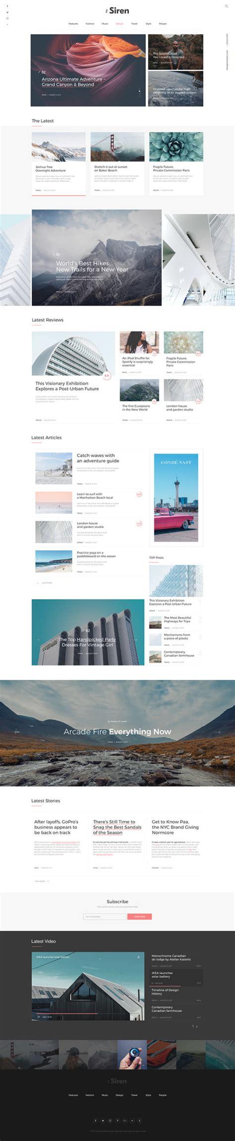 design concept magazine malaysia the siren one page blog magazine design concept idevie