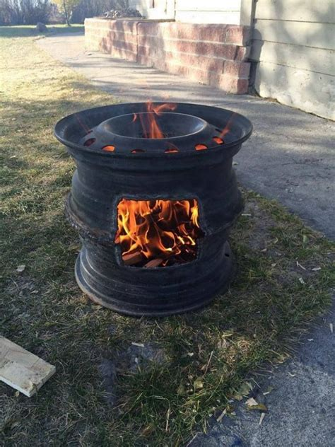 Bbq Firepit Recycled Bbq Pit The Owner Builder Network
