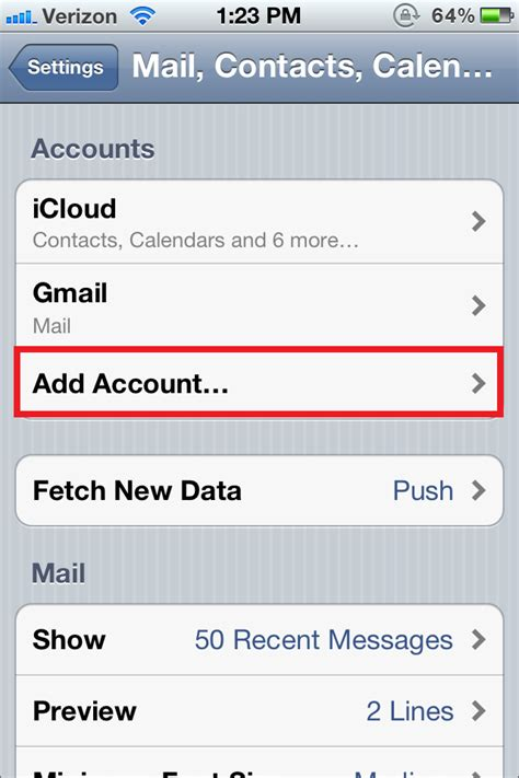 account section how to manually configure your email account on your