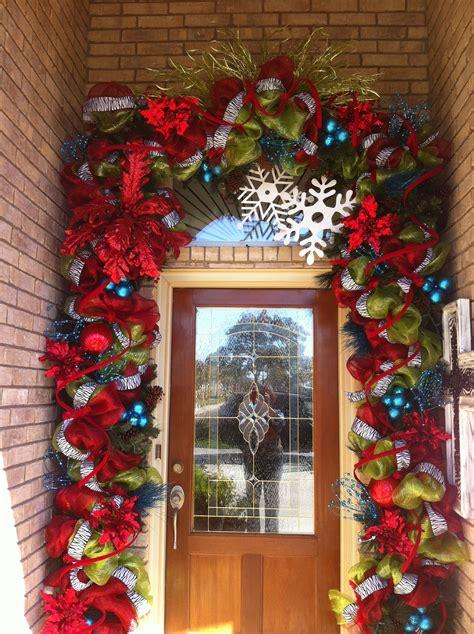 incredible garland  front door decoracion navidad