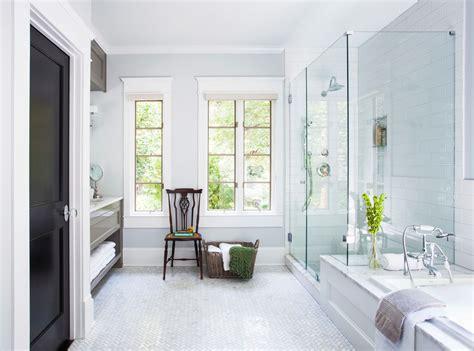California Bathroom by Shower Tile Floor Bathroom Transitional With Airy