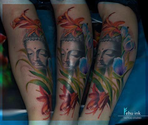 tattoo tattoos mandymo ironink stjohns newfoundland buddha with flowers tattoo by ellegottzi on deviantart