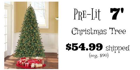 duncan fir tree 7 foot duncan fir pre lit tree only 54 99 shipped reg 90
