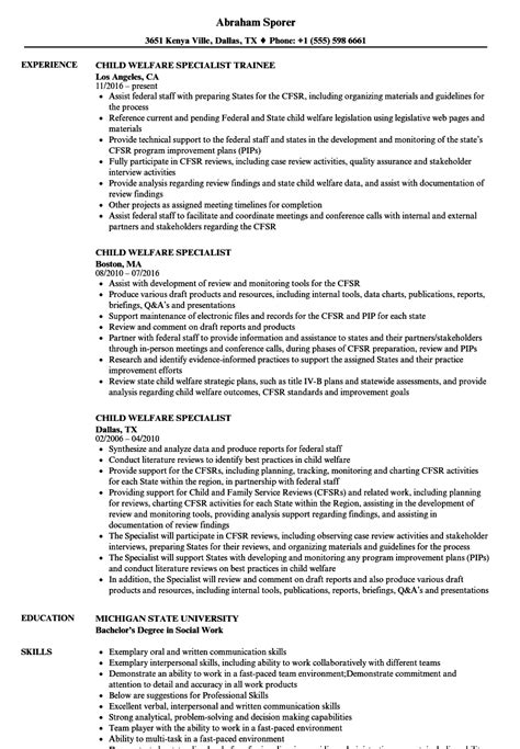 Child Welfare Specialist Cover Letter by Welfare Worker Cover Letter Carpenter Cover Letter