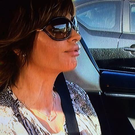 lisa rinnas hair on a fat person lisa rinna s sunglasses driving to set big blonde hair