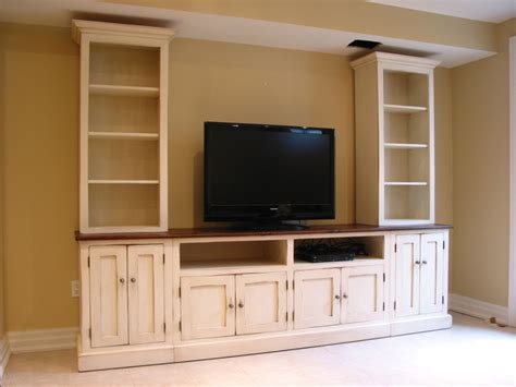 Handmade Entertainment Units - tv center wood tv wall unit painted media center