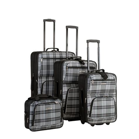 rockland 4 luggage set f105 blackcross the home depot