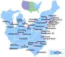 us map east coast cities eastern u s cities mobility information