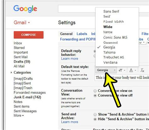 gmail reset to default settings how to change the default font in gmail live2tech