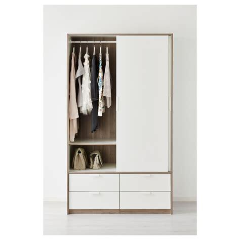 Ikea Trysil Schrank trysil wardrobe w sliding doors 4 drawers white 118 x 61 x