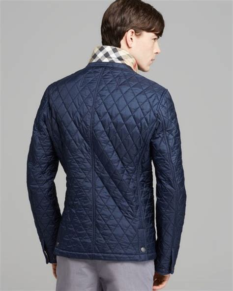 Burberry Brit Jacket Quilted by Burberry Brit Howe Quilted Blazer Jacket In Blue For