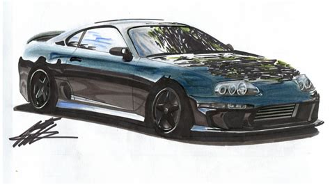 toyota supra drawing car drawing mk4 toyota supra lapse