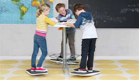 standing desk for kids there s a standing desk and balance board for kids now