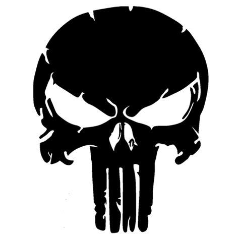 Aufkleber Totenkopf Schwarz by Punisher Skull Die Cut Vinyl Decal Pv1096