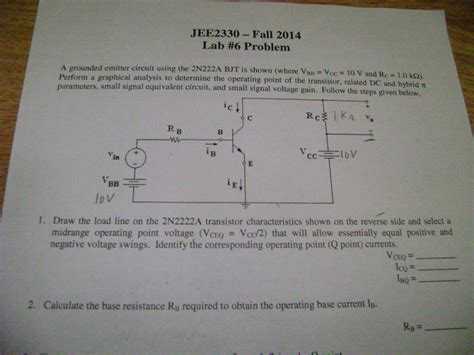 transistor problem want an answer