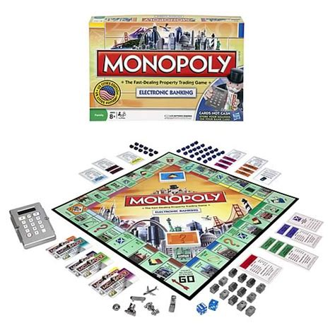 monopoly bank card monopoly here now electronic banking edition hasbro