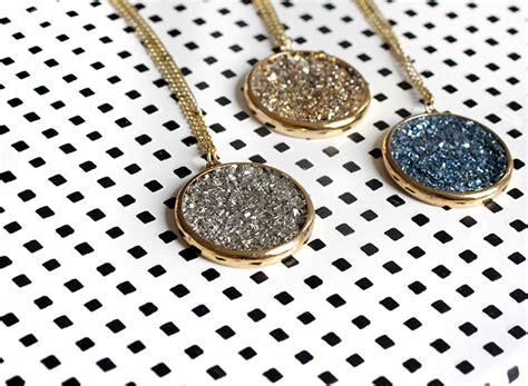 how to make druzy jewelry 187 diy kit faux druzy necklace earrings