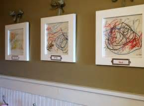 display gallery displaying kids artwork in a sophisticated fashion