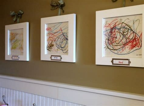 how to display art displaying kids artwork in a sophisticated fashion