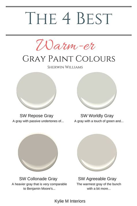 warm paint colors the 4 best warm gray paint colours sherwin williams