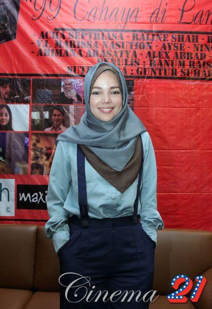 tutorial hijab paris ala dewi sandra contoh tutorial hijab ala artis dewi sandra terbaru foto