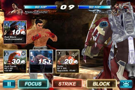 tekken android apk tekken card tournament ccg apk v3 422 mod unlimited health for android apklevel