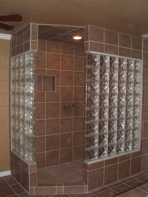 glass block showers small bathrooms glass block bathroom bathroom austin by lone star