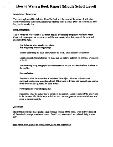 book report middle school middle school book report 23432911 png pay stub template