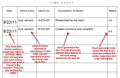 Chapter 1 Paralegal Timesheet Template