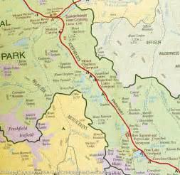 carte d 233 taill 233 e du parc national banff la compagnie des